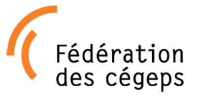 LETTRE DE LA FÉDÉRATION DES CÉGEPS AU MEES