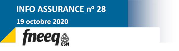Info assurance no. 28 Renouvèlement 2021