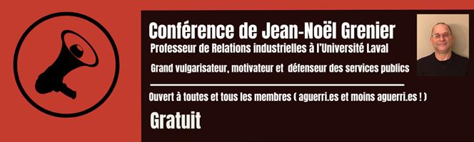 18 mars | Conférence de Jean-Noël Grenier